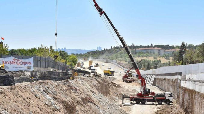 Projects that will reduce the traffic density in Ankara are progressing rapidly