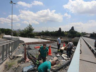 new overpass work to edirnekapi metrobus station will be closed