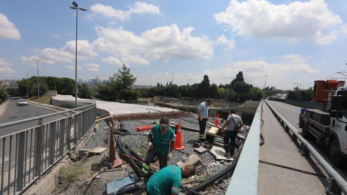 Công trình cầu vượt mới đến ga tàu điện ngầm edirnekapi sẽ bị đóng cửa