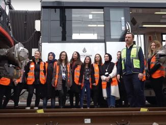 woman train driver started duty in istanbul