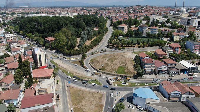 Начались работы на перекрестке моста SGK