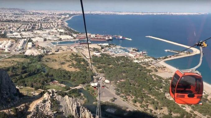 Το τελεφερίκ tunektepe καλωσόρισε χιλιάδες άτομα κατά τη διάρκεια των διακοπών