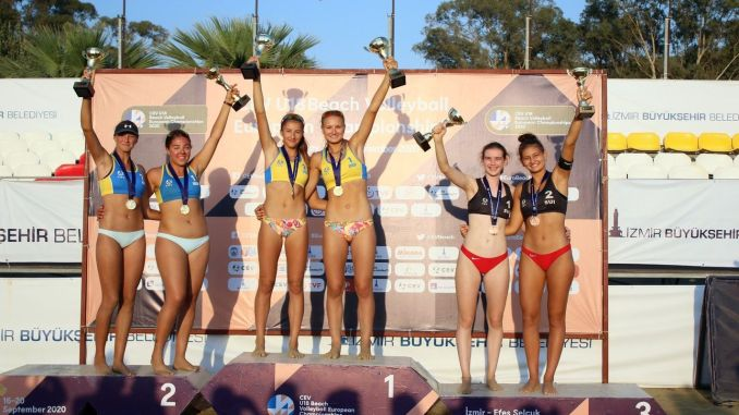 Victory Ukraine's at the European Beach Volleyball Championship