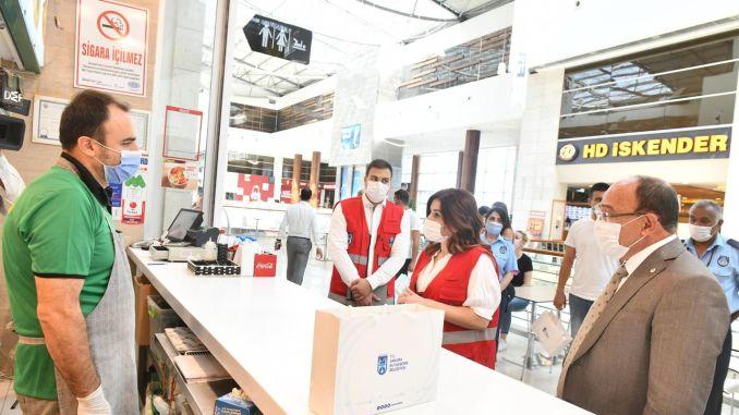 El área metropolitana de Ankara aumentó las inspecciones de los centros comerciales bajo las medidas del coronavirus