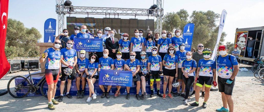 Präsident Soyer EuroVelo eröffnet 8. Mittelmeerroute Izmir Route