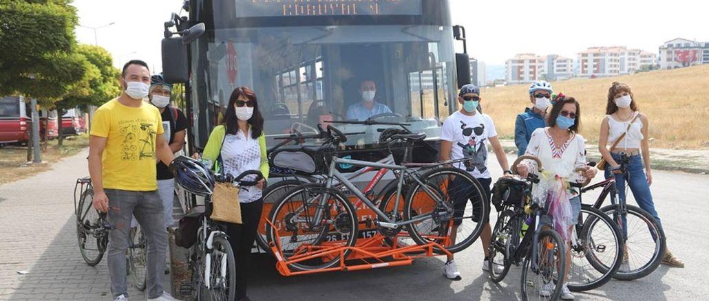 Eskişehir'de Otobüslerde Bisikletli Ulaşım Dönemi Başladı