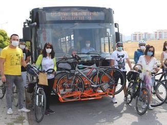 Beginn des Fahrradtransportzeitraums in Bussen in Eskişehir