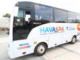 เที่ยวบิน HAVASAK เริ่มต้นจาก Sakarya ถึงสนามบิน Sabiha Gökçen