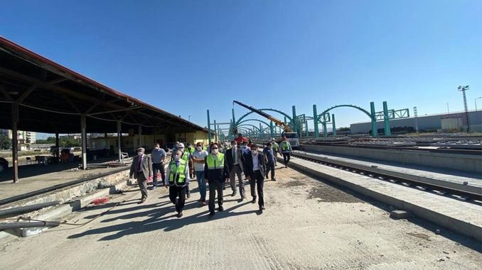 Works in Sivas YHT Station Field Continue at Full Speed