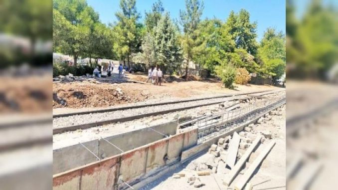 TCDD Steps Back, Divide Diyarbakır in Two, Controversial Wall Construction Stops