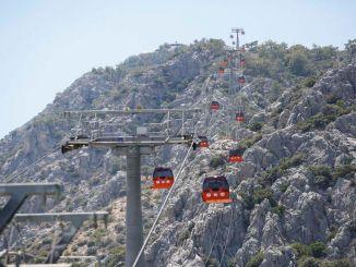 Tünektepe纜車和社交設施在2.5個月內接待了60萬名客人
