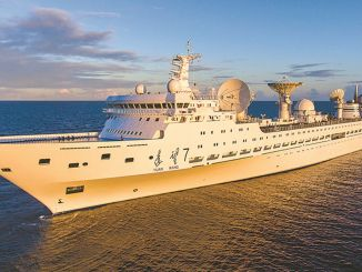 The Space Observation Ship Yuanwang-5 Embarks on a New Mission in the Pacific Ocean