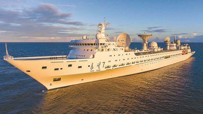 El barco de observación espacial Yuanwang-5 se embarca en una nueva misión en el Océano Pacífico