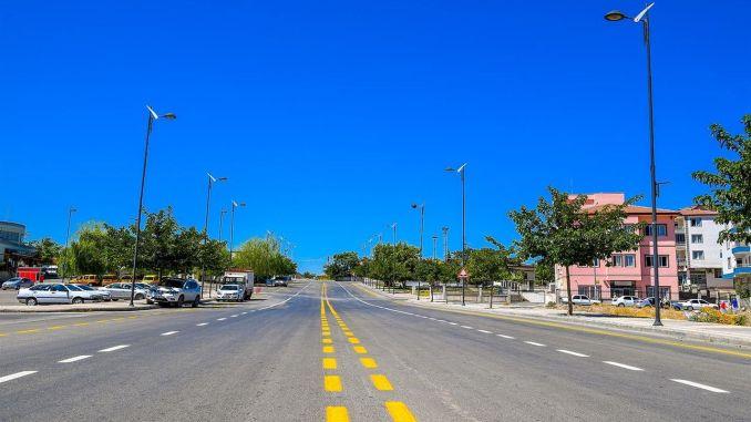 18 tusind 2 km vejvedligeholdelse og asfaltværker fra Malatya Metropolitan på 353 måneder