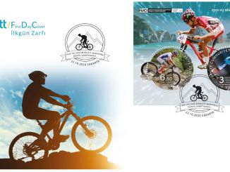 2020 UCI Mountain Bike Marathon World Championship Commemorative Stamp from PTT AŞ