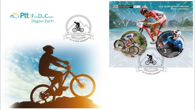 2020 UCI Mountain Bike Marathon World Championship възпоменателен печат от PTT AŞ