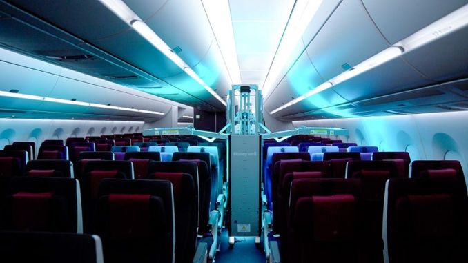 Qatar Airways Cabin Ultraviolet Cleaning System