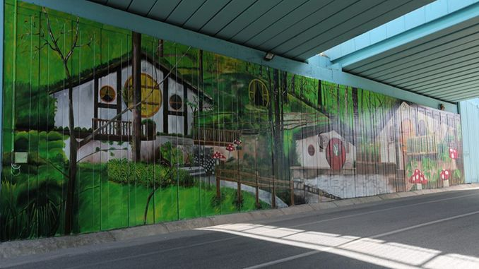Underpass Colored With Forest Pictures