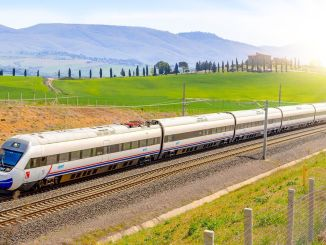 Trial Ride Made to Set Up Rail on Ankara Sivas YHT Line