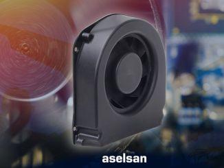 Centrifugaalventilator geïmporteerd door ASELSAN genationaliseerd via Milpower Company