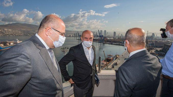 Bürgermeister Soyer besuchte TCDD İzmir Port Management
