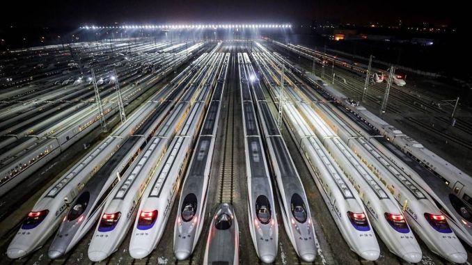 চীন রেলওয়ে পরিবহন সাধারণ স্তরের ৮০ শতাংশে পৌঁছেছে