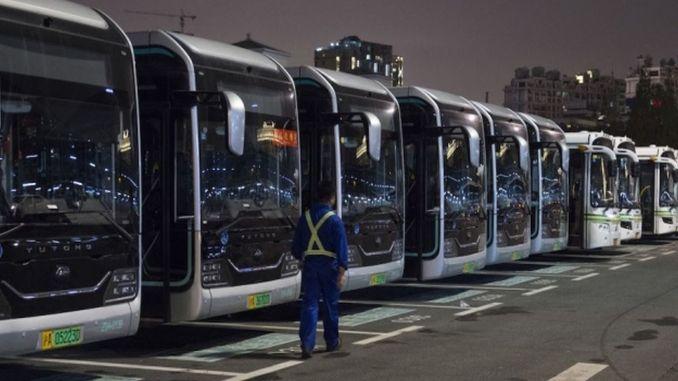 Електричні автобуси в Китаї сягають 60 відсотків від загальної кількості