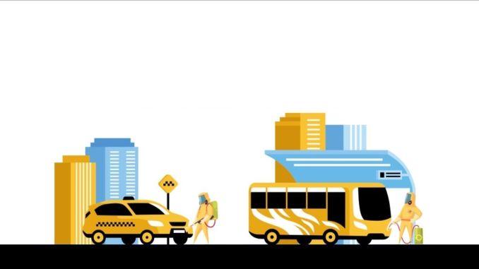 Los taxis, minibuses y minibuses se desinfectan periódicamente en Estambul