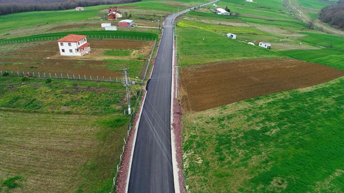 11 Km Road Has Been Built to 18 Villages of Kandıra