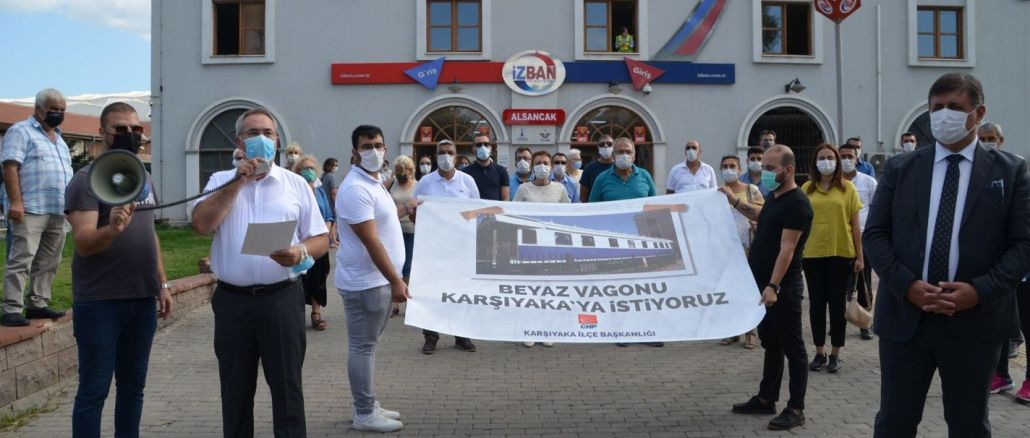 Karşıyakalılar 'Beyaz Vagon' İçin İmza Kampanyası Başlattı