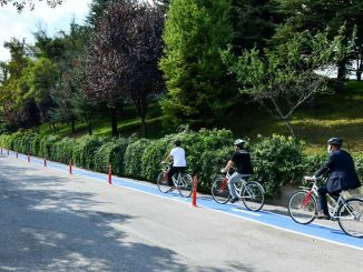 Gute Nachricht von der Fahrradstraße zu den Universitätsgeländen von Mansur Yavaş