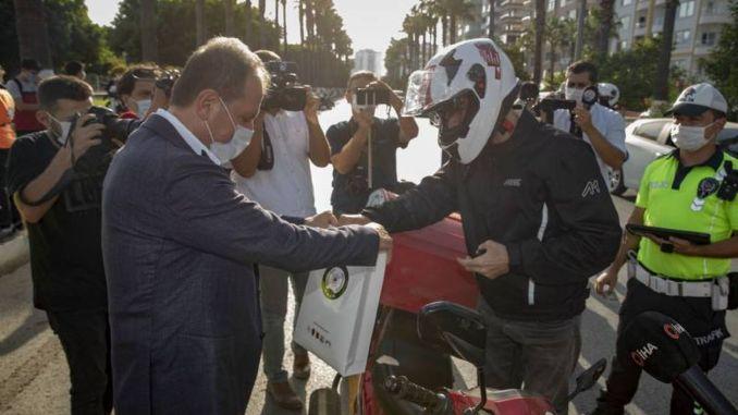 I Wearing My Helmet Awareness Event in Mersin
