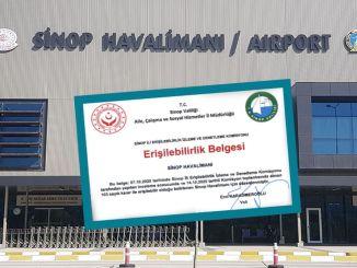 Sinop Airport ontvangt toegankelijkheidscertificaat