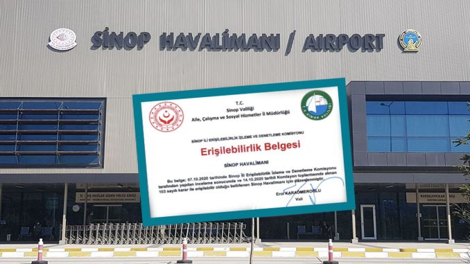 Sinop Airport Receives Accessibility Certificate