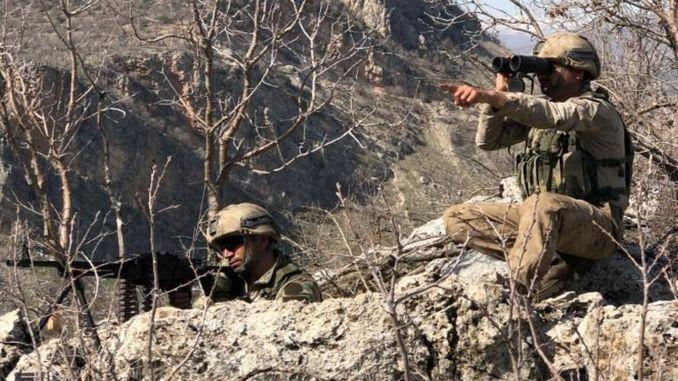 Ang Yıldırım-13 Bestler Streams Operation Gisugdan sa Şırnak-Siirt-Van-Hakkari Mga Lalawigan