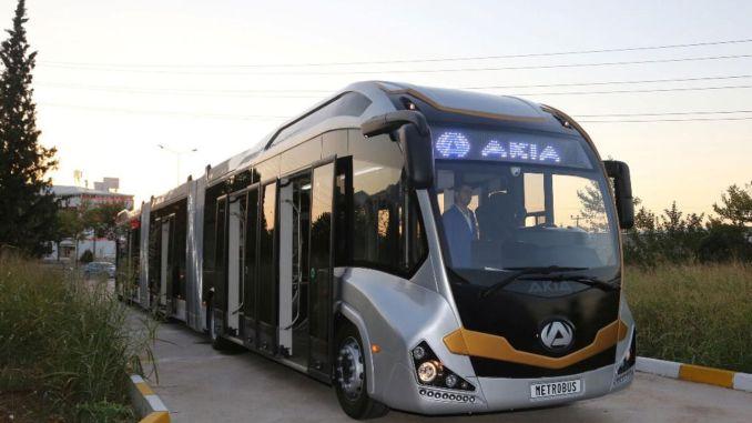 """Първият вътрешен Metrobus в Турция на """"AKI A"""""""