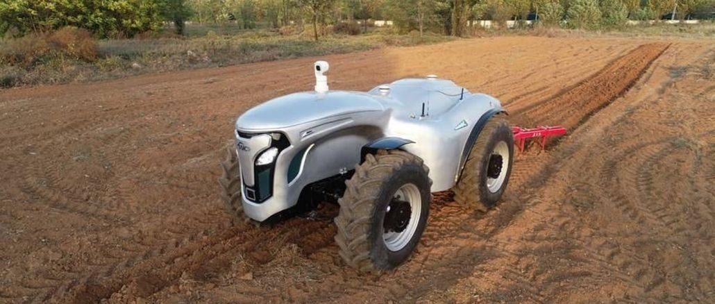Developed an electric driverless tractor controlled by g