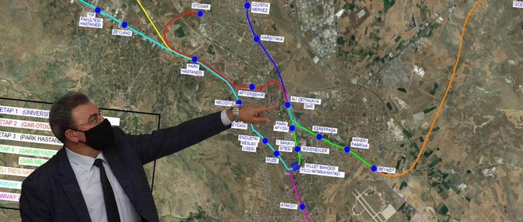 Die nostalgische Straßenbahnlinie Afyonkarahisar wurde angekündigt