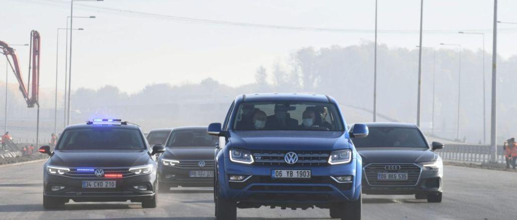 министърът тества северната мраморна магистрала с karaismailog