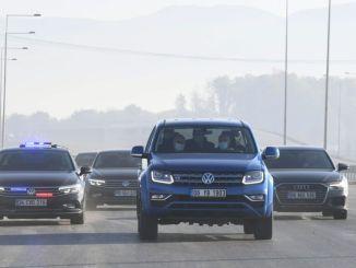 ministro probó la autopista del norte de Mármara con karaismailog