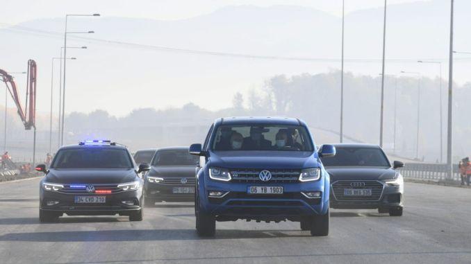 minister testede den nordlige marmara-motorvej med karaismailog