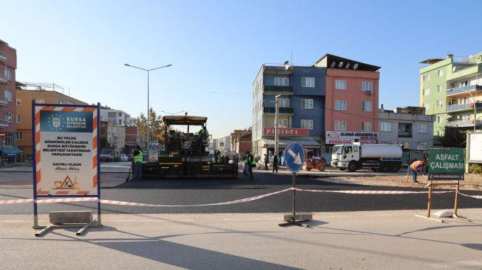Continúan las obras de intersección inteligente para el transporte ininterrumpido en Bursa