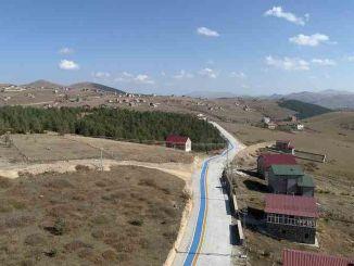 Pekerjaan konstruksi jalur sepeda dataran tinggi Cambasi terus berlanjut