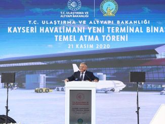 The foundation of Kayseri Airport's new terminal building has been laid.