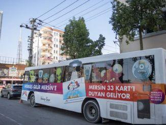 Kentkart mobile service vehicle is on duty for Mersinites