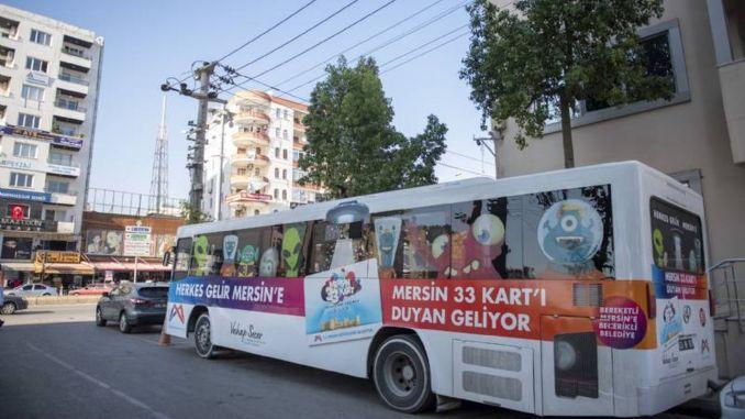 Kentkart mobilno službeno vozilo dežura za stanovnike Mersina