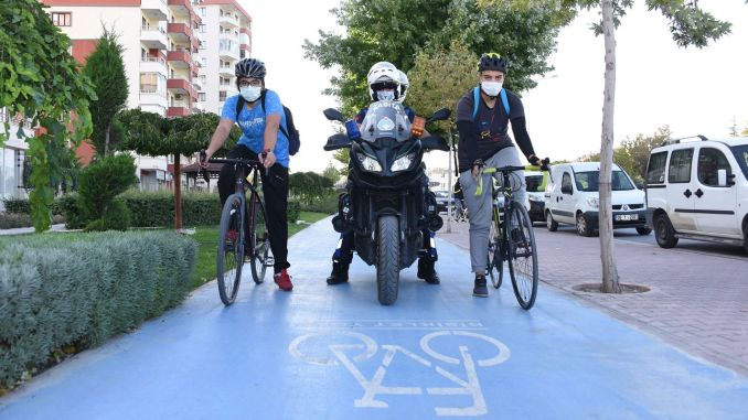 A bicycle path control officer was created for bicycle path occupations in Konya