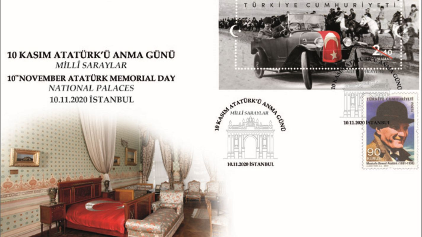 Special envelope for the memorial day of November Ataturk
