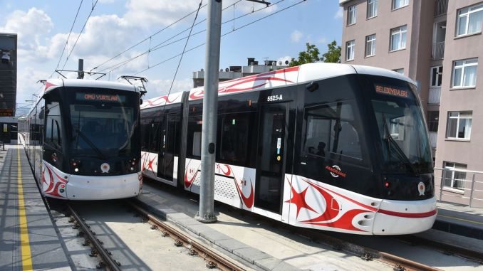 In Samsun, the tram schedule has changed on the weekend