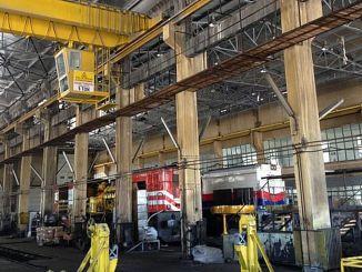 입찰의 결과로 시바스 기관차 정비 작업장 수리 작업이 수행되었습니다.